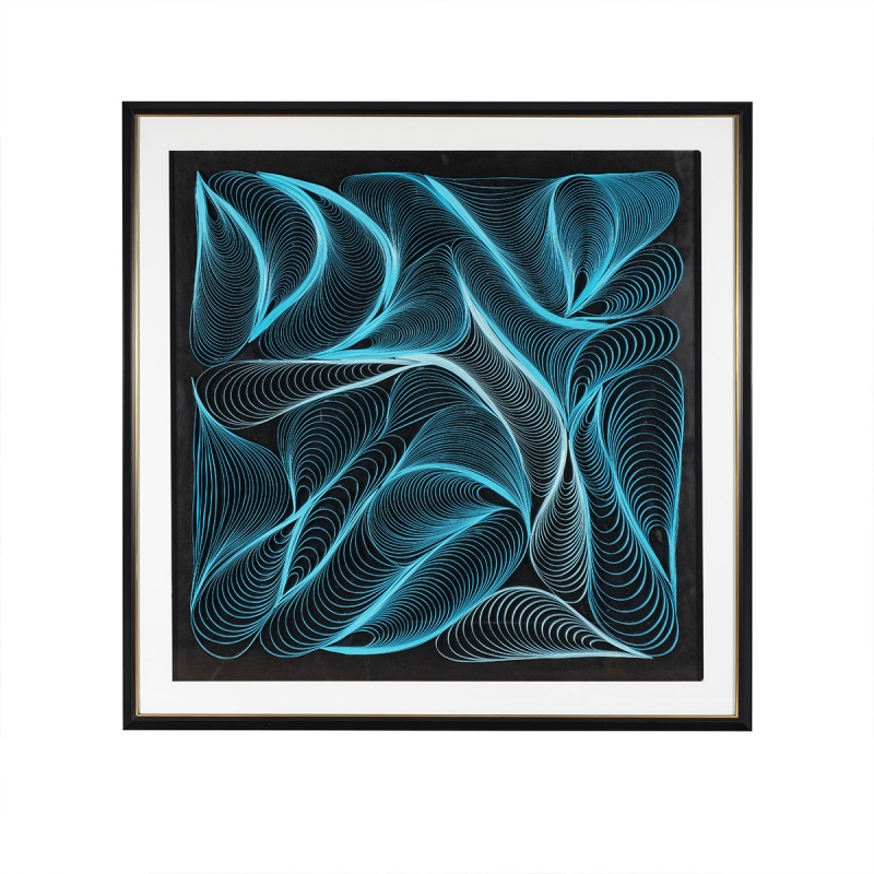 Tableau Design BLUE WAVE par BY NATURART