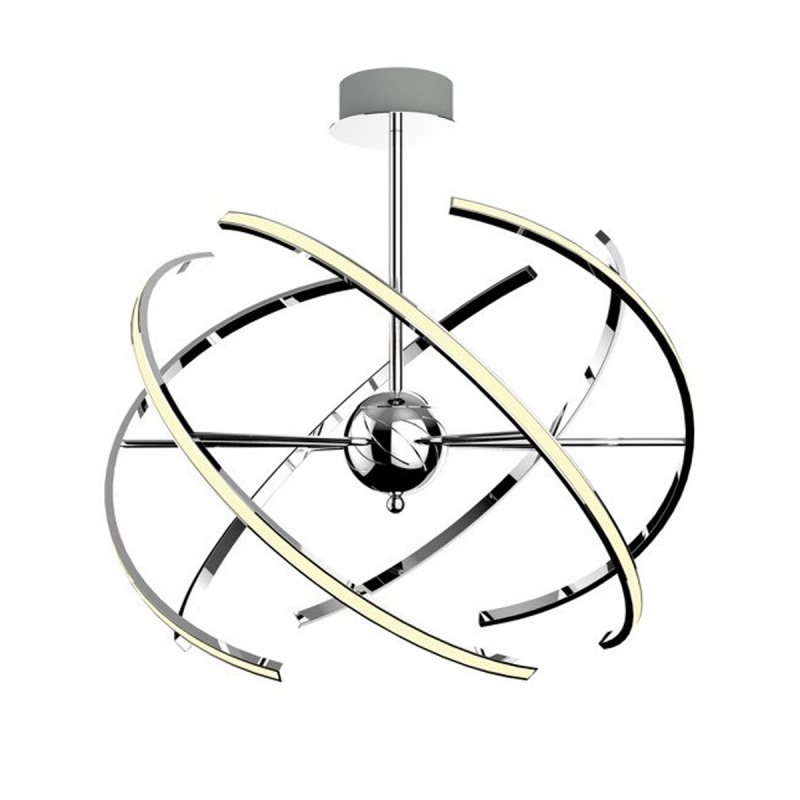 Suspension circulaire led RESINA Design par Zumaline