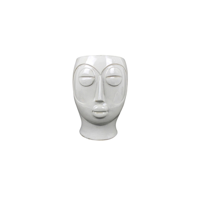 Pot de fleurs Mask marron par Present Time