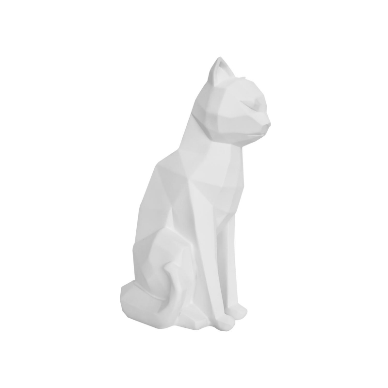 Statue origami Cat assis par Present Time