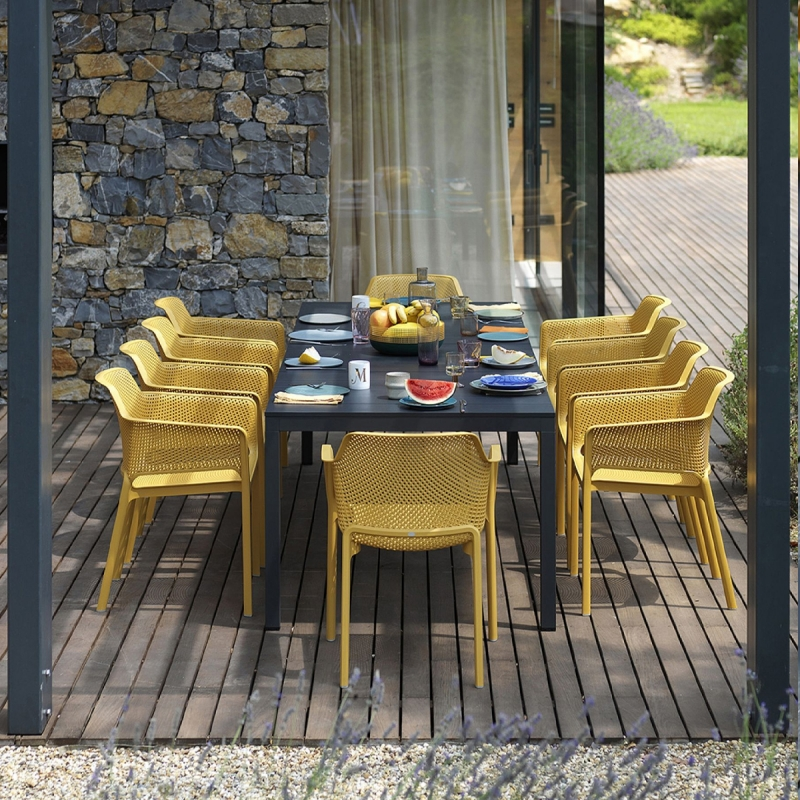Table de jardin extensible et design 280 cm Rio en aluminium NARDI