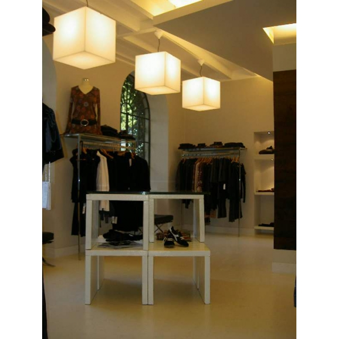 Table basse lumineuse SLIDE Cubo 43 cm
