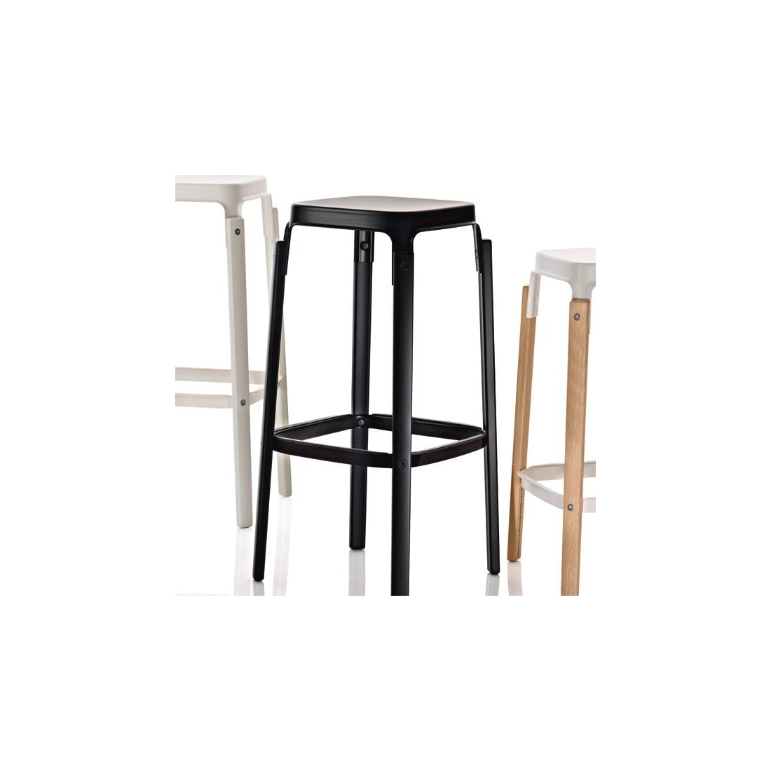 tabouret haut magis steelwood tabourets design magis. Black Bedroom Furniture Sets. Home Design Ideas