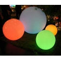 Lampe design 50 cm Globo LED RGB