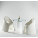 Table de bistrot SLIDE Peak light 80 cm