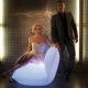 Fauteuil design VONDOM Pillow, LED RGB