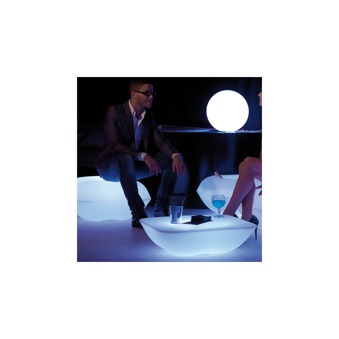 Table basse Pillow Led Rgb