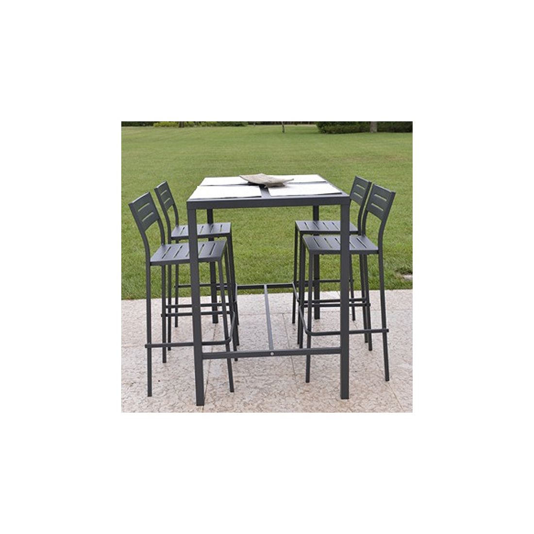 Table haute rd italia dorio 120x80 cm manges debout design rd Table haute jardin design