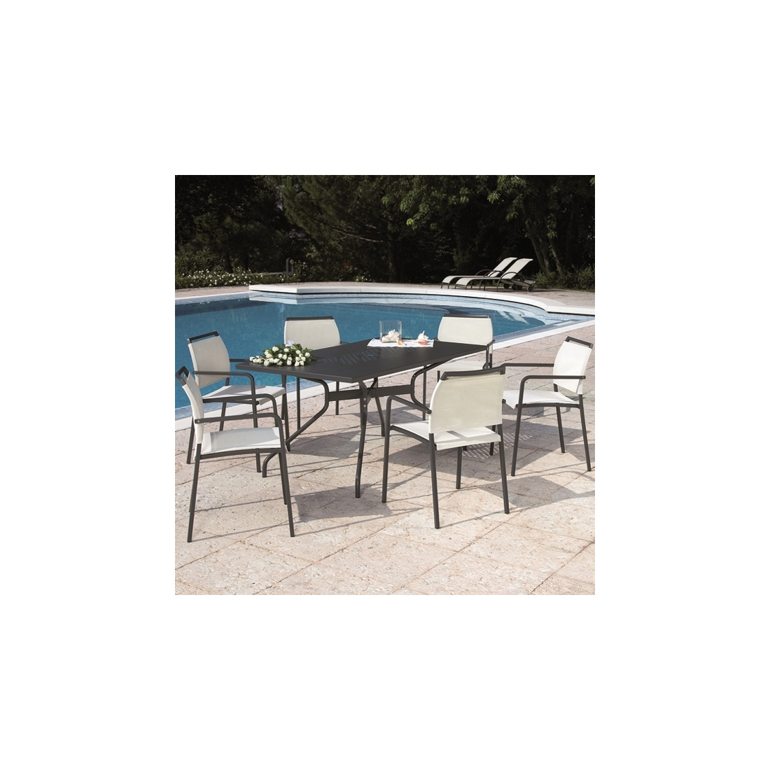 Ensemble jardin rd italia nikka estate tables manger design rd - Table de jardin design italien ...