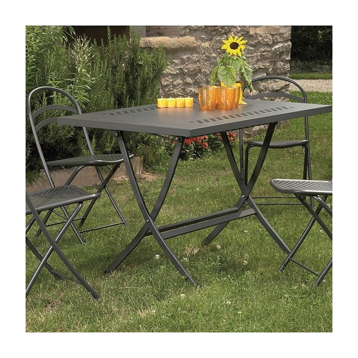 Table pliante jardin herm s 120 zendart design - Table de jardin design italien ...
