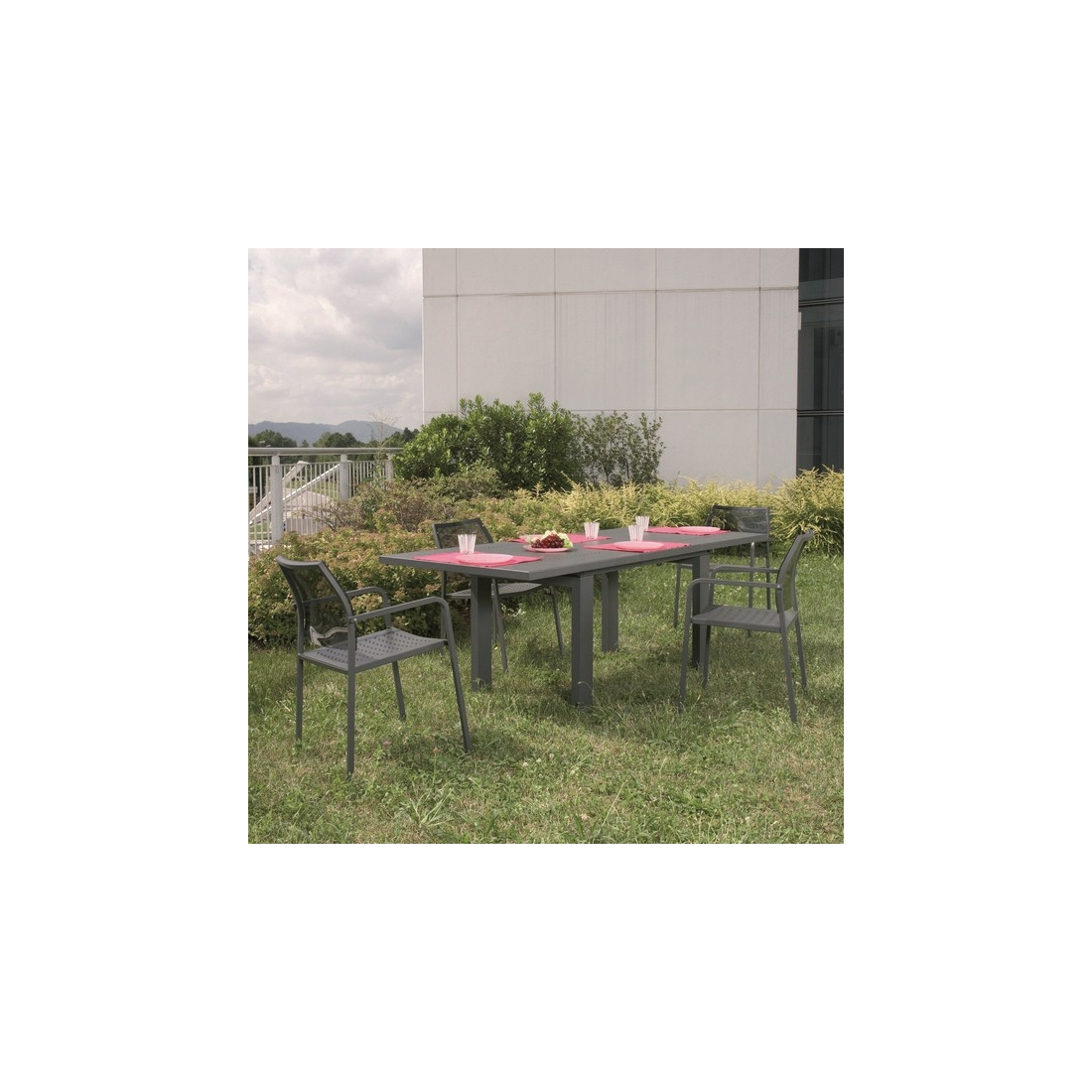Table rallonge rd italia helios 160 tables manger design rd - Table de jardin design italien ...
