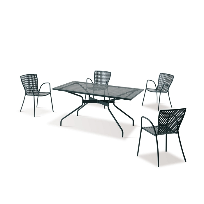 Table rectangulaire rd italia estate 160x90 tables manger design - Table de jardin design italien ...