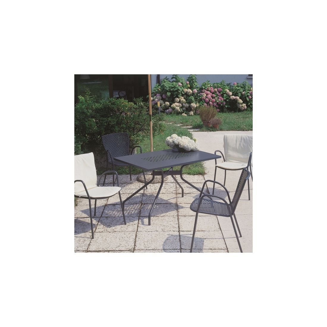 Table rectangulaire rd italia estate 120x80 tables manger design - Table de jardin design italien ...