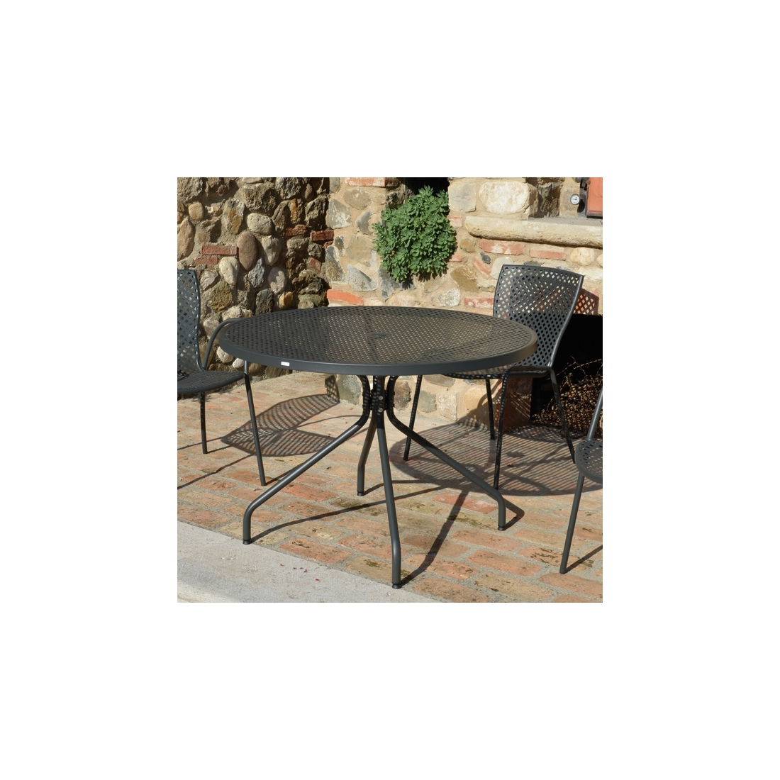 Table ronde de jardin estate 110 zendart design - Table de jardin design ...
