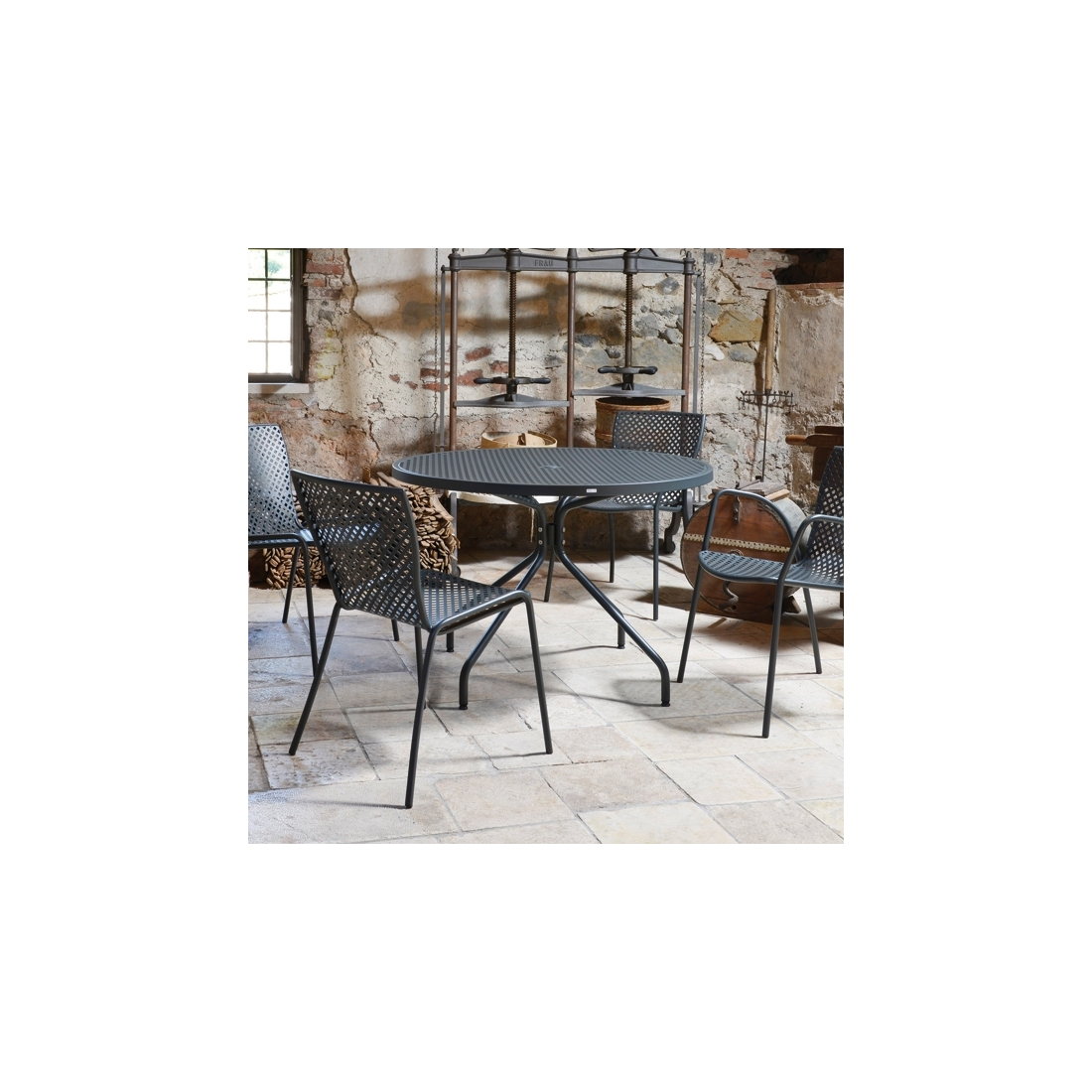 Table ronde de jardin estate 110 zendart design for Petite table ronde de jardin