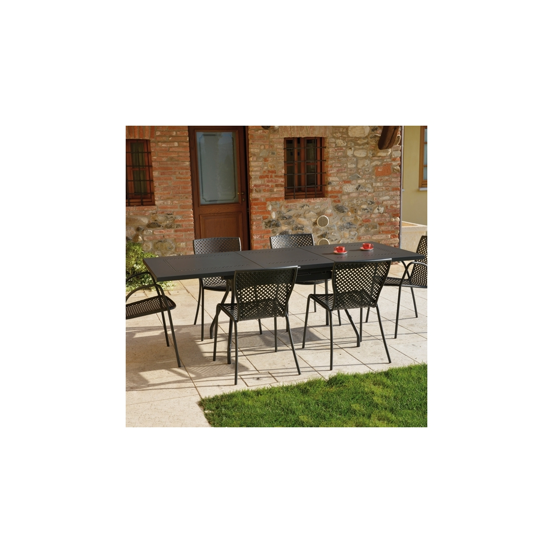 Table rallonge rd italia estate l tables manger design rd - Table de jardin design italien ...