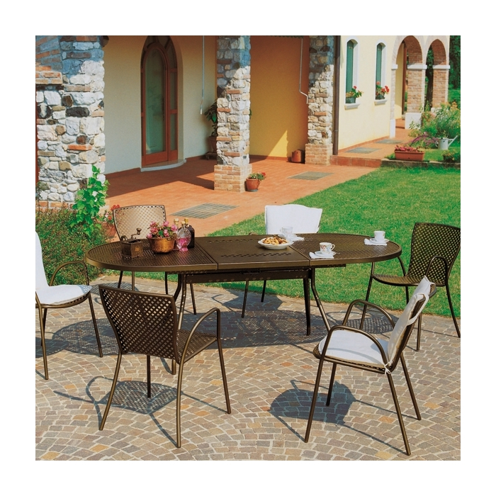 Table rallonge rd italia reef 160 tables manger design rd - Table de jardin design italien ...
