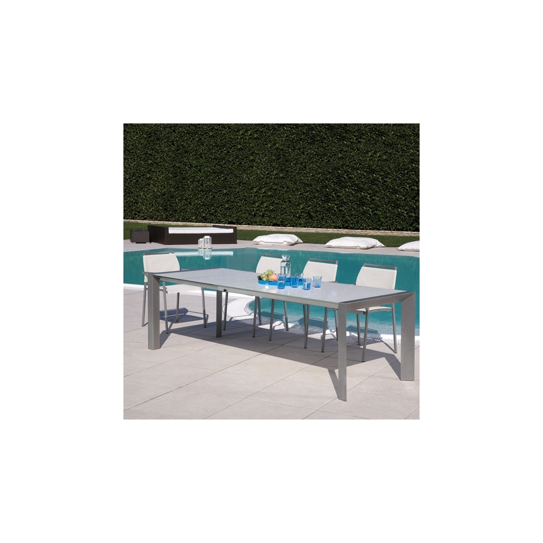 Table rallonge rd italia oreste tables manger design for Table exterieur a rallonge