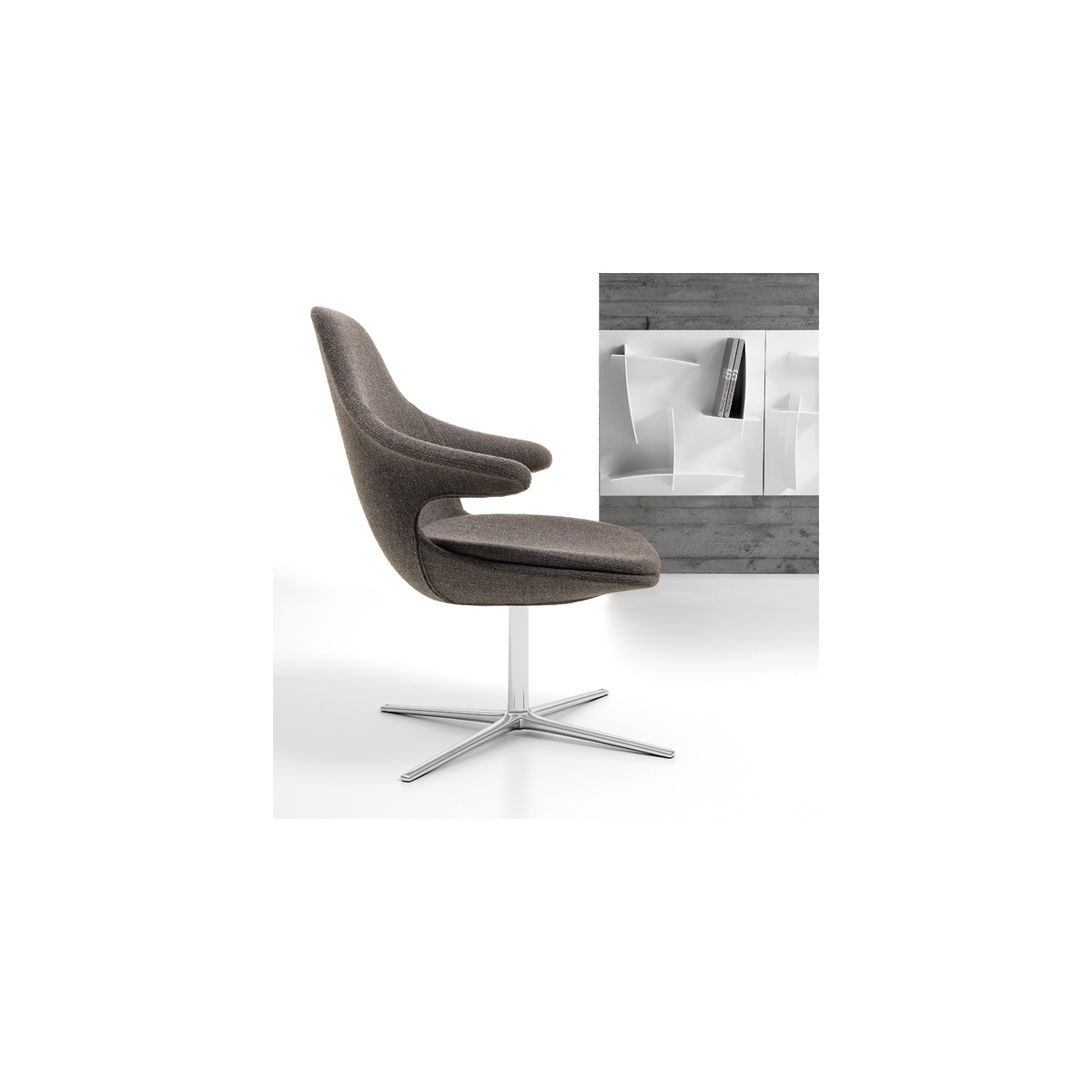 Fauteuil Pivotant Design Infinity Loop Lounge Low