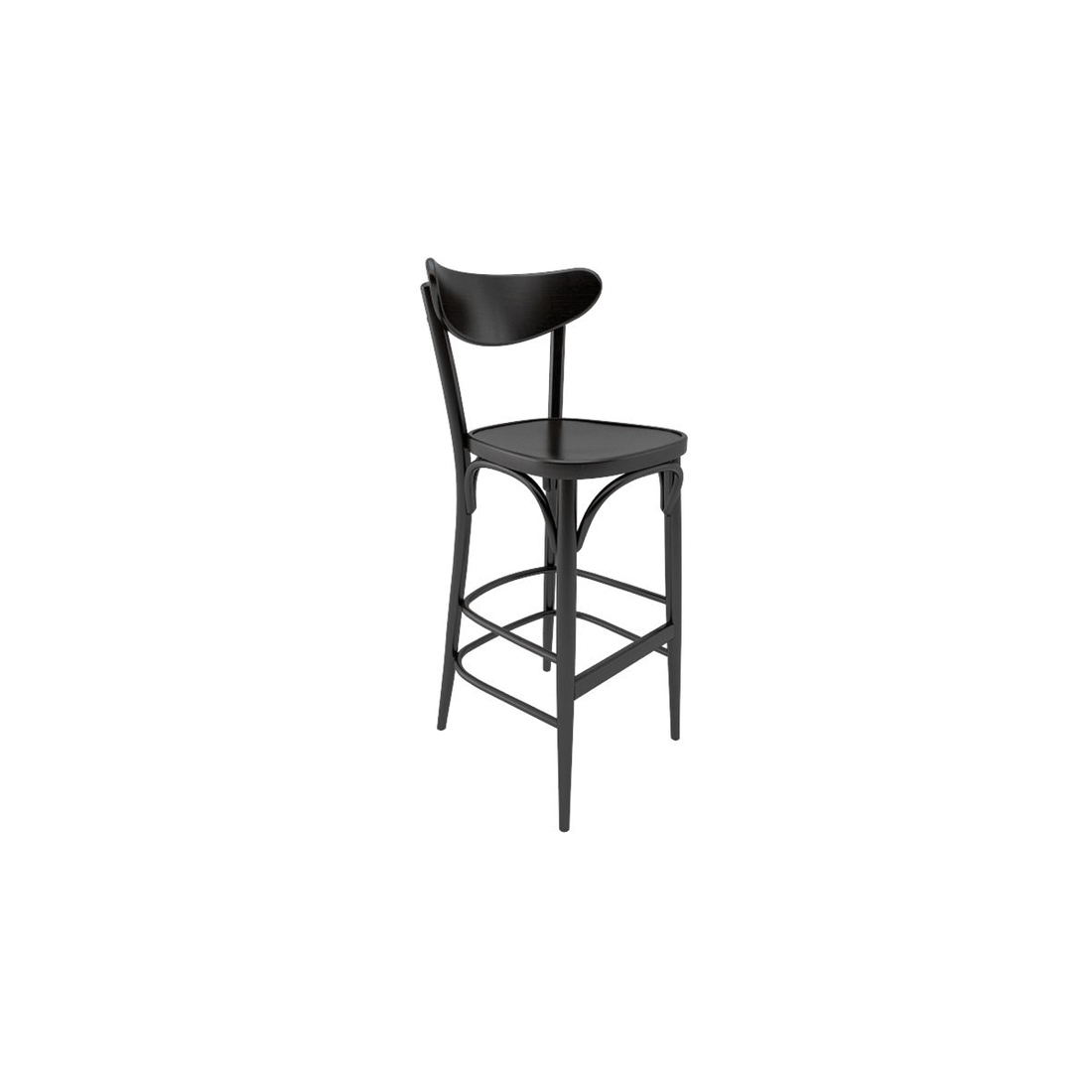 tabouret de bar avec dossier ton banana chaises design. Black Bedroom Furniture Sets. Home Design Ideas