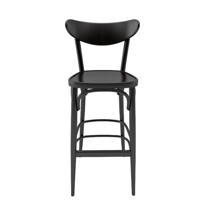 tabouret de bar avec dossier ton banana chaises design ton chaises. Black Bedroom Furniture Sets. Home Design Ideas