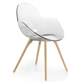 Chaise design INFINITI, Cookie Wooden Legs