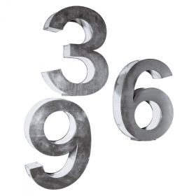 Applique SELETTI Metalvetica Numbers