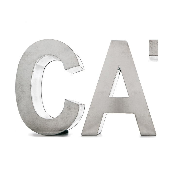 Applique SELETTI Metalvetica Letters XL
