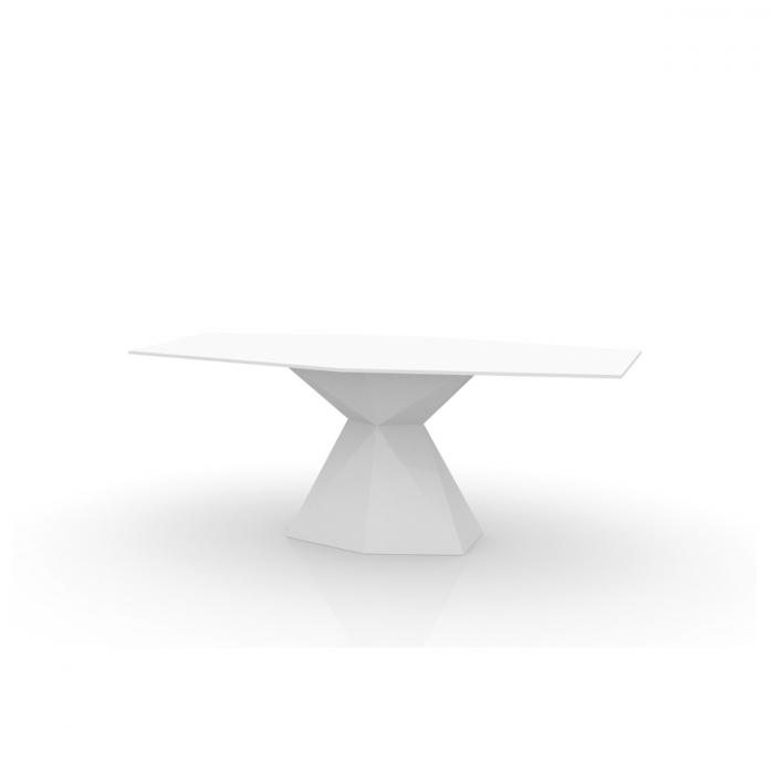 Table VONDOM Vertex, plateau Verre, LED RGB