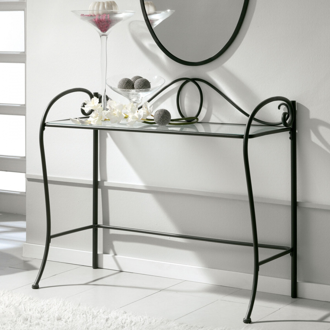 console en m tal design collection fera. Black Bedroom Furniture Sets. Home Design Ideas