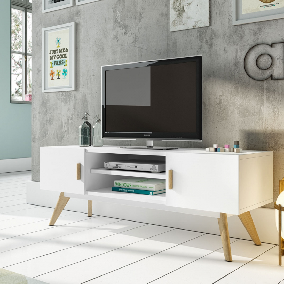 Meuble Tv Design Collection Compas Zendart Design # Meuble Tv Style Scandinave