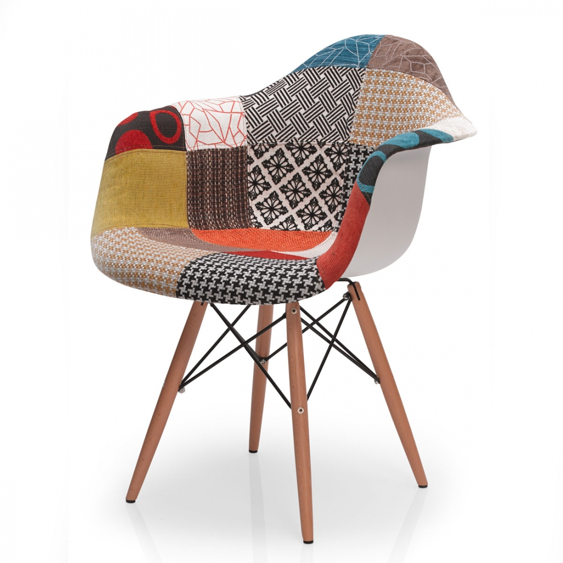 Fauteuil vintage mozaik zendart design for Meuble pop art