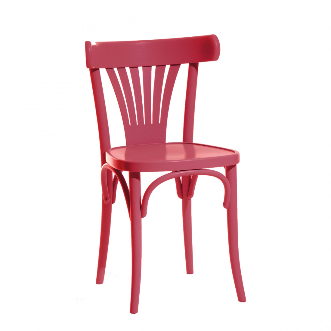 Chaise Bistrot TON 56 en rouge extra