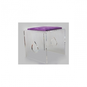 Tabouret design SOFOZ Birmani assise velours