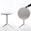 Table pliante design vernie plateau rond MAGIS Central