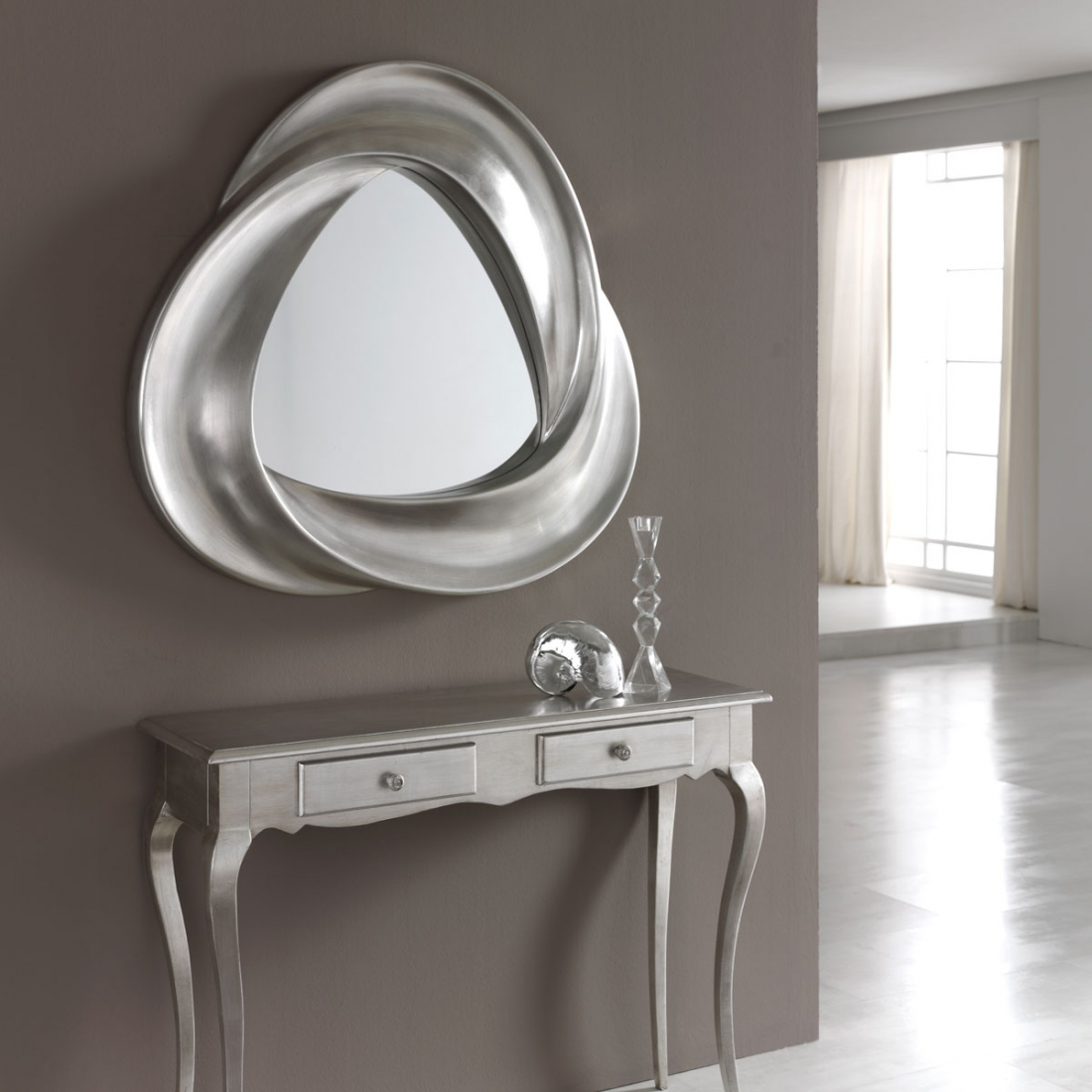 miroir argent mobius. Black Bedroom Furniture Sets. Home Design Ideas