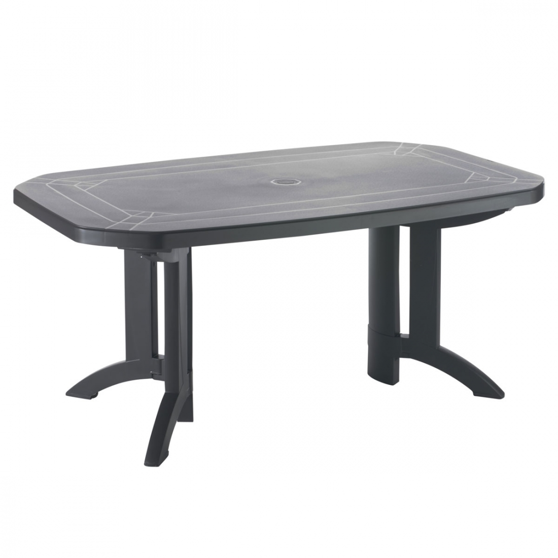 Table de jardin vega 165x100 grosfillex zendart design - Table jardin grofilex besancon ...