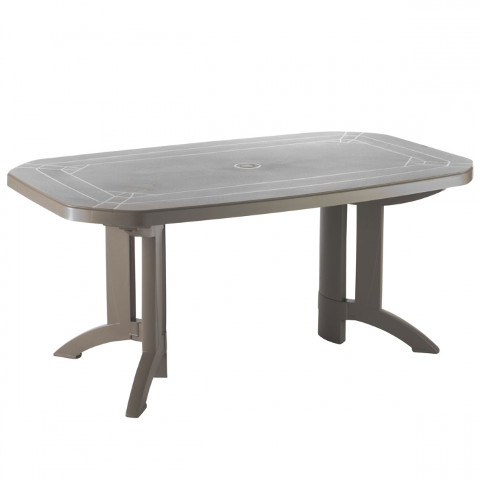 Table de jardin vega 165x100 grosfillex for Table d exterieur design