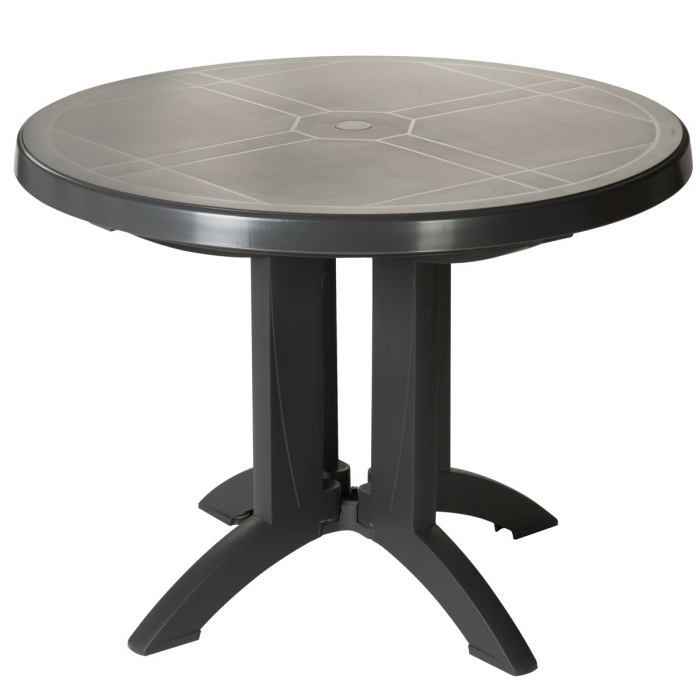 Table ronde de jardin vega grosfillex for Table de salon ronde design