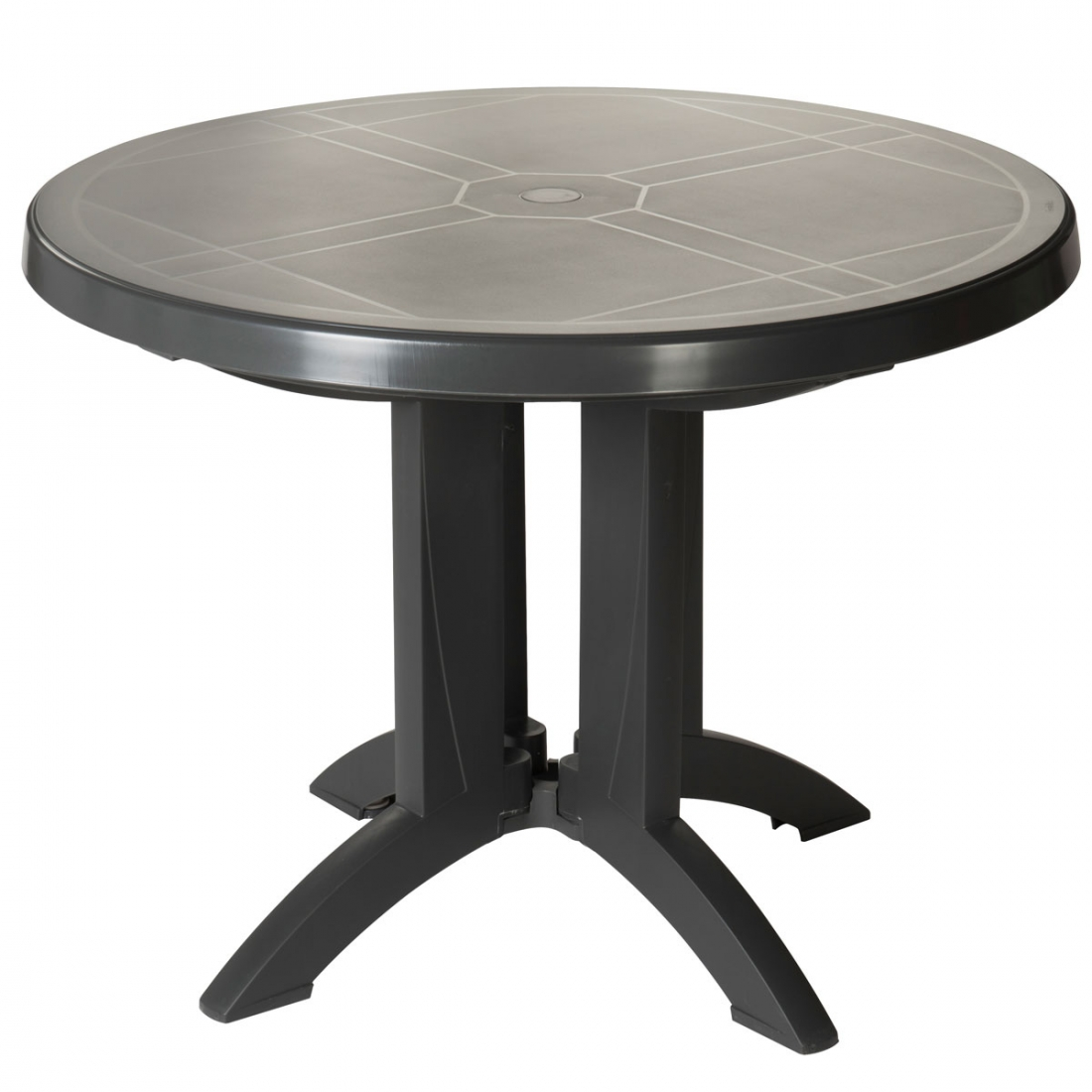 Table ronde de jardin vega grosfillex - Salon de jardin table ronde ...