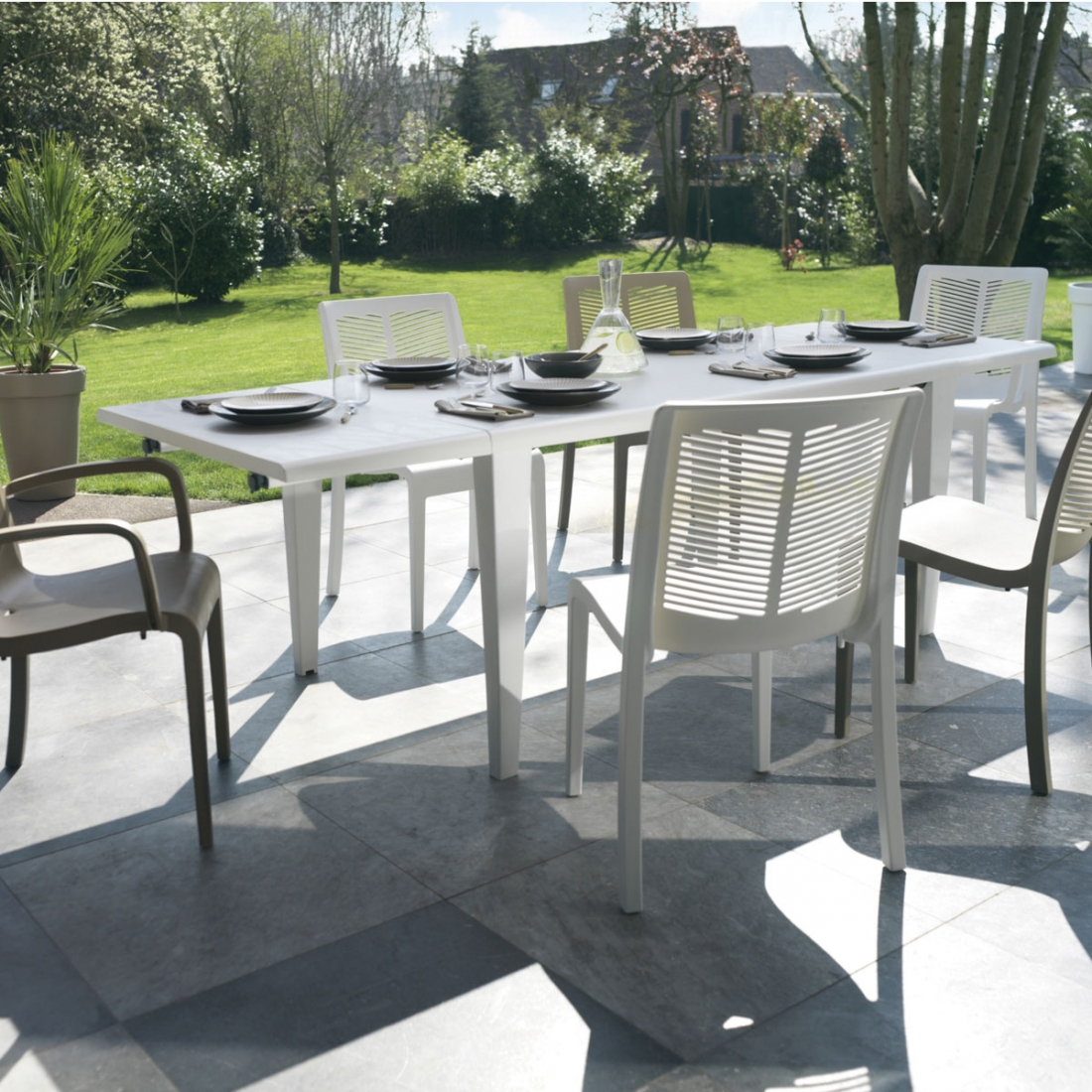 Table de terrasse alpha 240 grosfillex zendart design - Table jardin grofilex besancon ...