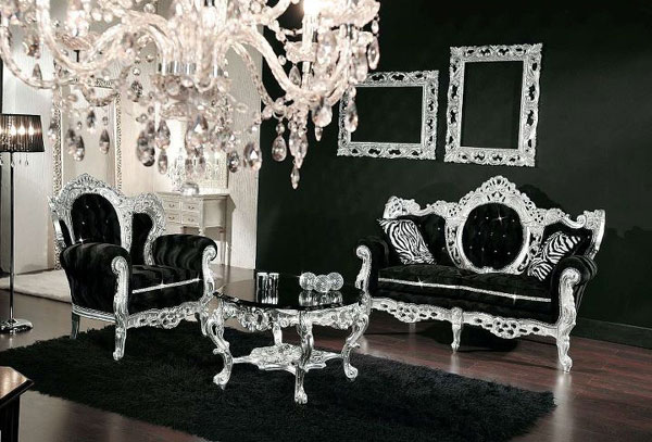 Bling bling une tendance brillante et tr s d co for Deco argente salon
