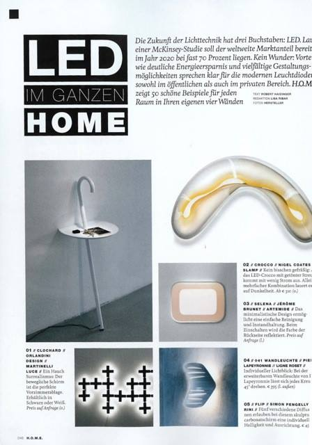 Table Clochard Martinelli Luce magazine H.O.M.E