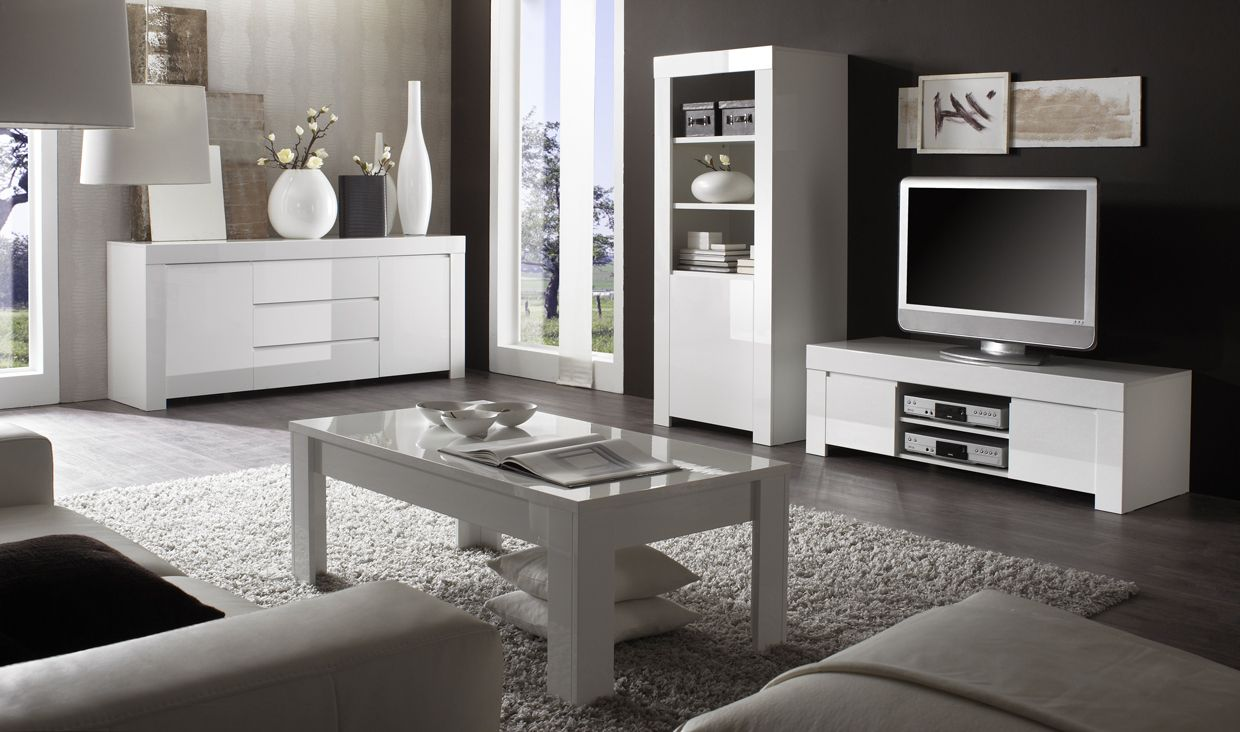 Guide d co r ussir son salon design blanc toute l - Comment amenager son interieur avec des meubles peints ...