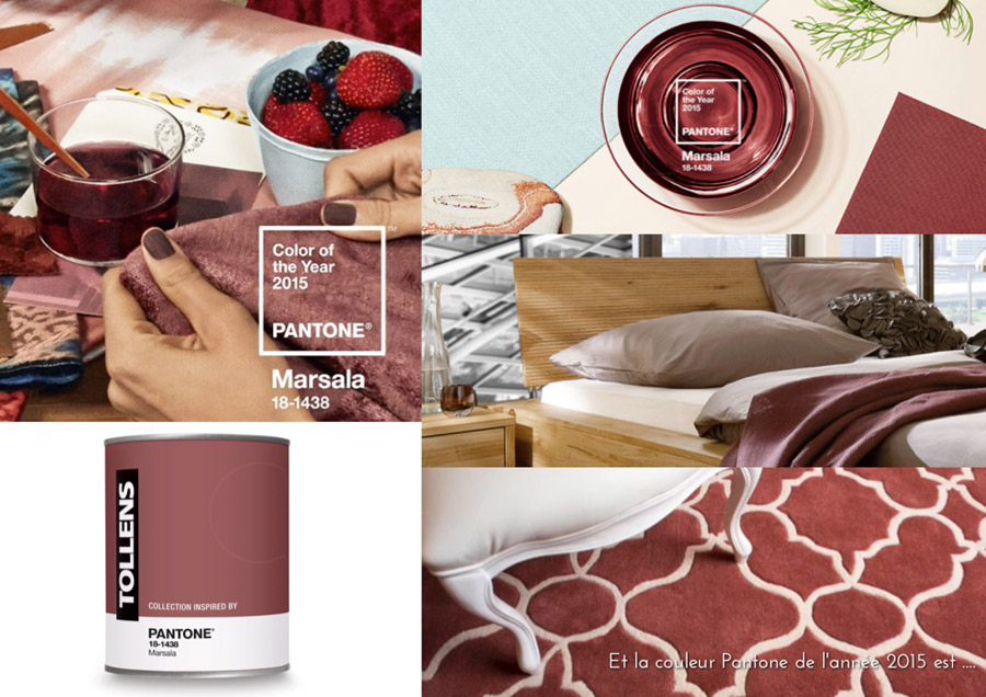 et la couleur pantone 2015 est marsala. Black Bedroom Furniture Sets. Home Design Ideas
