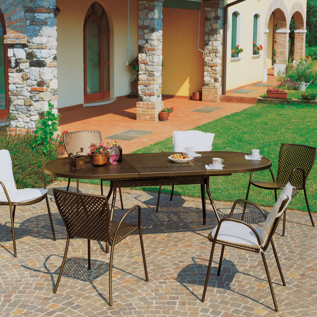 Ensemble de Jardin Queen Reef Métallique Bronze RD ITALIA