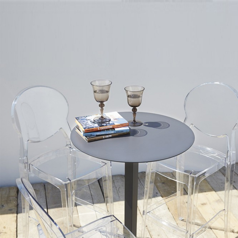 tabouret haut transparent outdoor