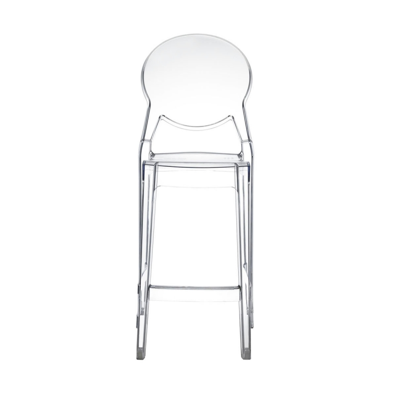 tabouret haut transparent